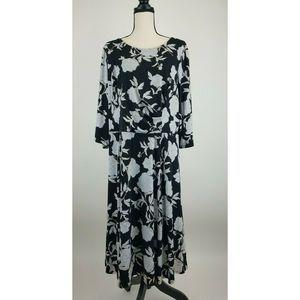 Sandra Darren Womens Fit Flare Dress 20W B45-01Z